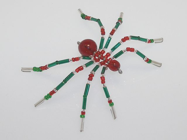 Small 'Green' Style Christmas Spider Ornament