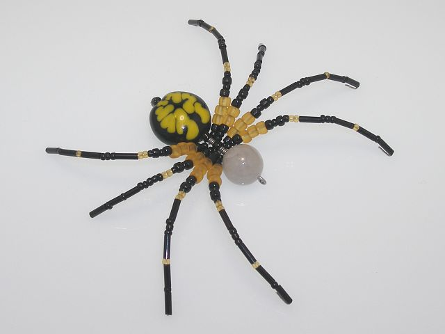 Beaded Spider #225 - Black and Yellow Argiope