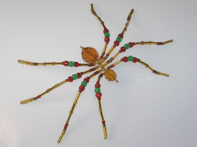 Medium 'Gold' Style Christmas Spider Ornament